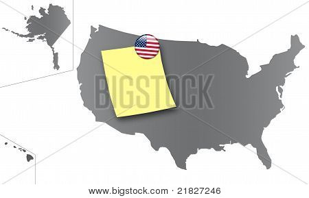United States - Pin board