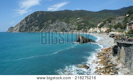 The beautiful coastal landscapes of Monterosso al Mare, in Liguria Italy. Photo taken in May, 2017.
