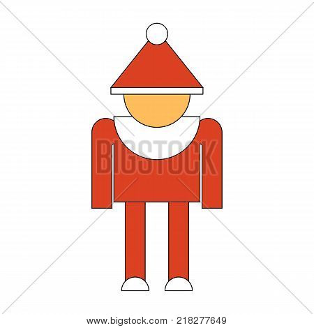 Merry Christmas Elf Character Icon Symbol Design. Vector illustration of elf silhouette isolated on white background. Simple shape style. Flat design. Can be use for decoration gifts greetings holidays etc.