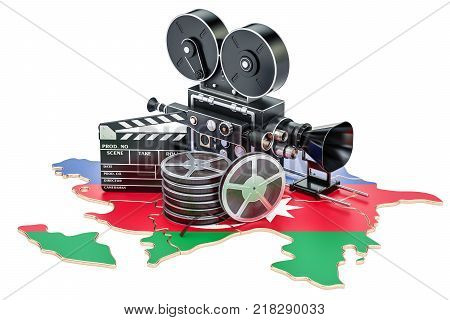 Azerbaijan cinematography film industry concept. 3D rendering isolated on white background