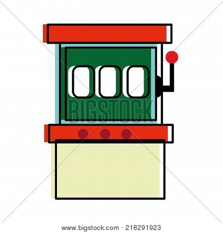 Slot machine of casino las vegas and game theme Isolated design Vector illustration