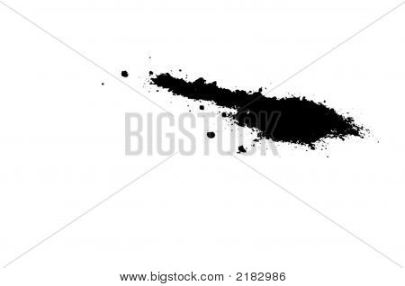 Black Inkblot Or Spill