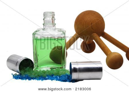 Massage Oil, Ball, And Bath Salts