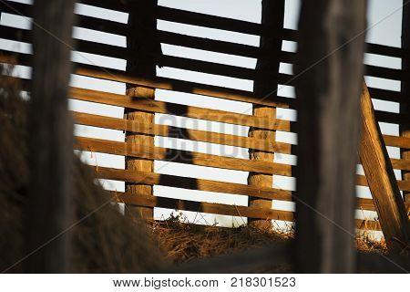 old rural house barn planks. village barn object