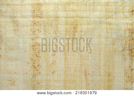 background texture, surface of natural Egyptian papyrus created by authentic technology