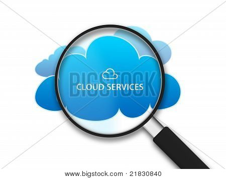 Magnifying Glass With Clouds