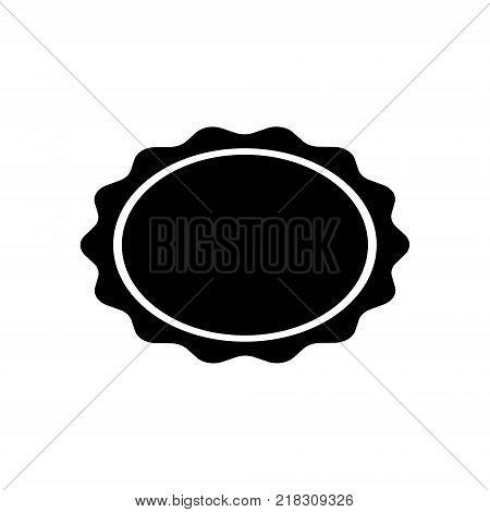stamp of an oval-shaped seal of black color on a white background. Vector