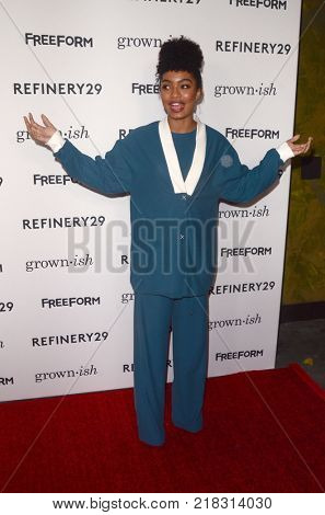 LOS ANGELES - DEC 13:  Yara Shahidi at the