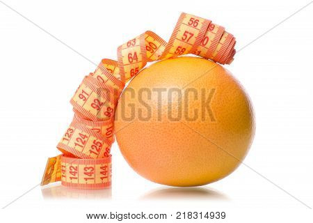 Grapefruit health losing weight white background isolation
