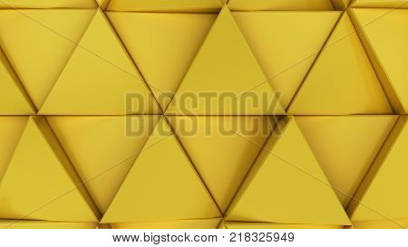 Pattern Of Yellow Triangle Prisms