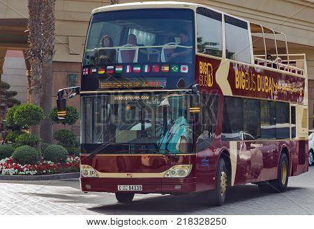 Touristic Bus On Street