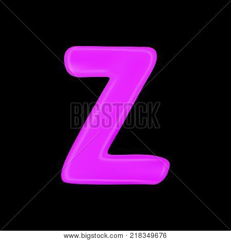 Realistic letter Z isolated on black background. 3d. Stock - Vector illustration