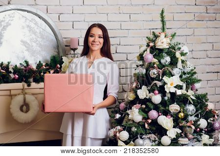 Beautiful female medicine doctor with smile face. Medical care, illness diagnosing, physical, physician consultation, insurance concept. Dermatologist or oncologist examination