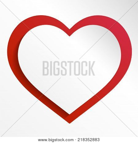 Colorful heart vector graphic template illustration isolated on white background. Heart vector icon, Love symbol. Valentine s Day sign, emblem isolated on white background, Flat style for graphic and web design, logo. EPS10