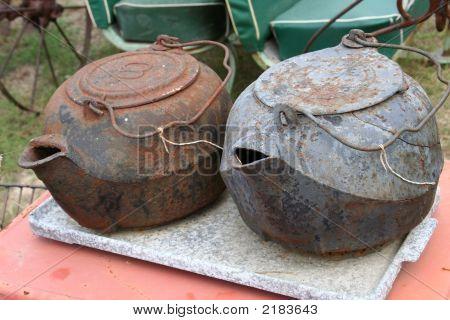 Flea Market Pots