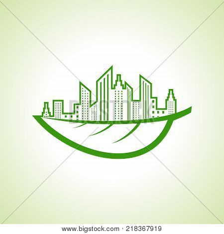 Save Nature and ecology concept with eco cityescape stock vector