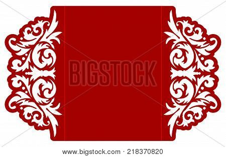 Laser cut flower vector photo free trial bigstock laser cut flower template for envelope vector ready for printing postcards packets wedding stopboris Gallery