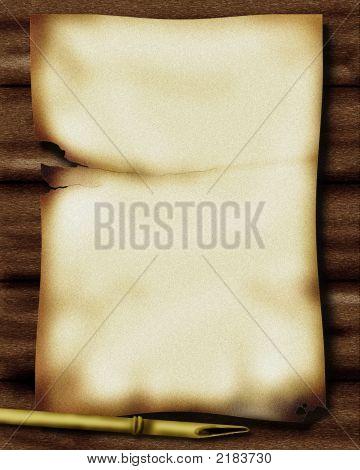 Parchment On Wood