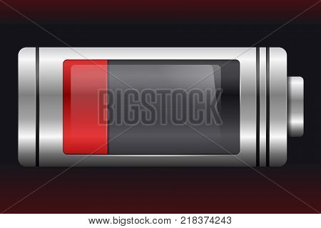 Metal With Glass Batteries. Set Of Various Types Of Charge