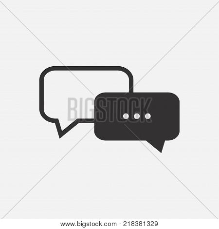 Message icon, chat icon on light background. Vector illustration.