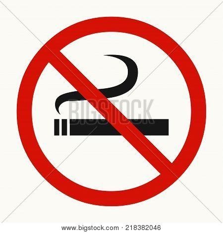 No smoking. Smoking prohibited sign. Vector illustration.