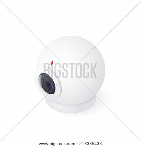 3D Web cam isolated on white background. Isometric vector illustration