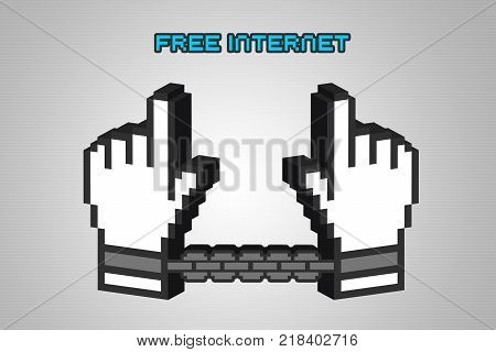 WASHINGTON, USA, 14 December 2017 - 3D Illustration of idea of US protesting repeal of Net Neutrality.