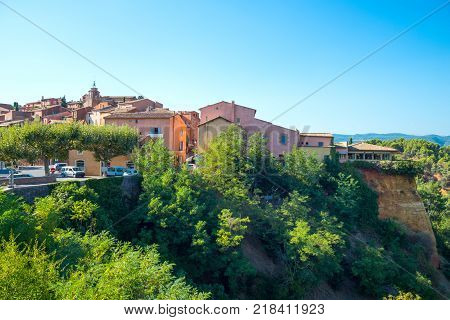 France Roussillon Vaucluse view of the village