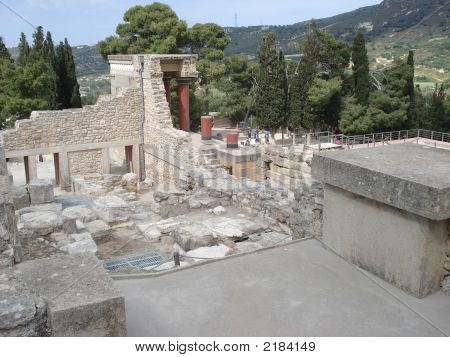 Palace Of Kosnoss - Island Of Crete Greece