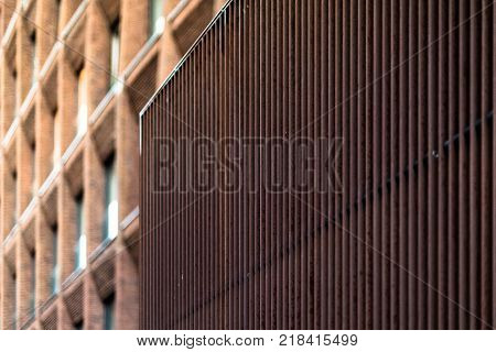 Fragment Of A Modern Brick Building In Moscow.