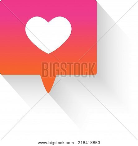 Modern like gradient pink icon on white background.  Flat design. -stock vector