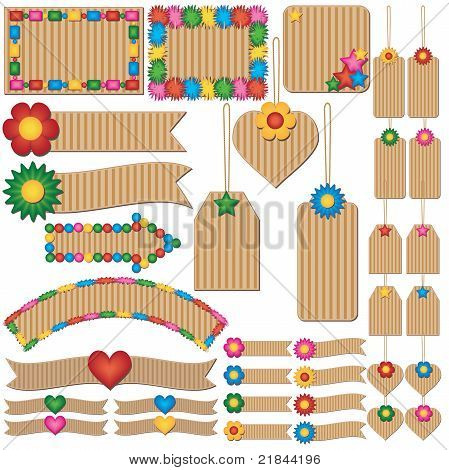 Colorful Children Labels And Tags