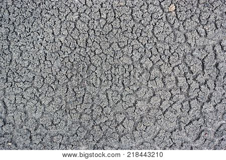 Cracks in the ground barren surface abstract background.