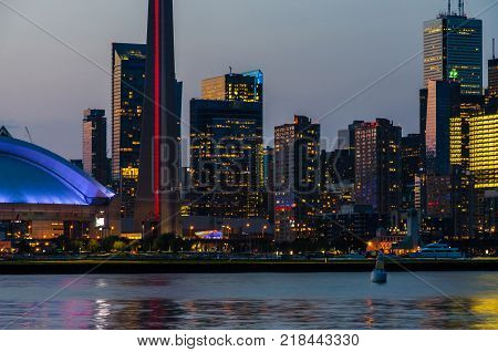 View of buildings on downtown Toronto, Canada.