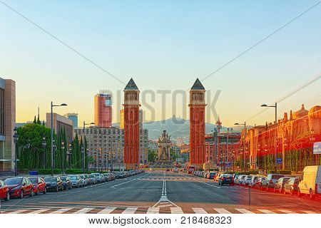 Downtown Of The City Seville - Is The Capital And Largest City Of The Community Of Andalusia, Spain.
