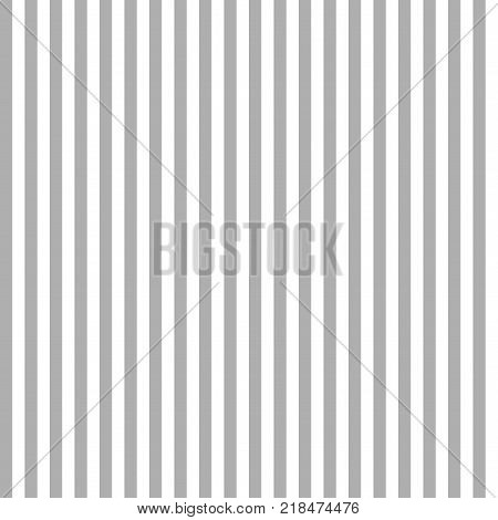 Seamless vertical stripe pattern with white and grey colors. Vector background.