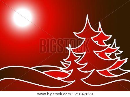 Christmas tree made of snowflakes