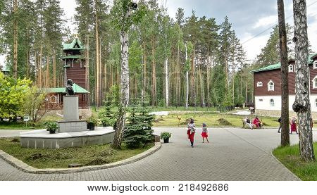 Yekaterinburg, Russia, June 2017. The project is traveling in Russia.The project is traveling in Russia. Monastery of the Holy Royal Passion-Bearers. The place where they wanted to bury the last Russian Tsar Nicholas II and his family.