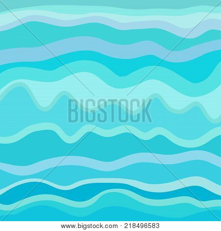 Pattern with lines and waves. Multicolored texture. Abstract dinamic background. Cold colors. Doodle for design. Line art