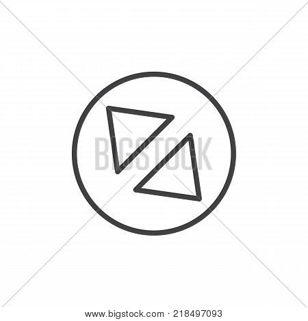 Diagonal enlarge line icon, outline vector sign, linear style pictogram isolated on white. Symbol, logo illustration. Editable stroke