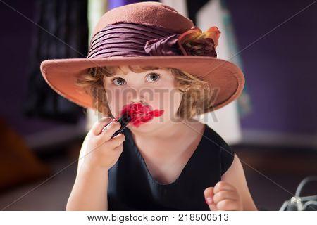 Little Girl Wearing Image & Photo (Free Trial) | Bigstock