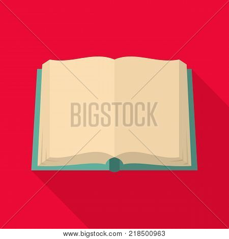 Book deployed icon. Flat illustration of book deployed vector icon for web