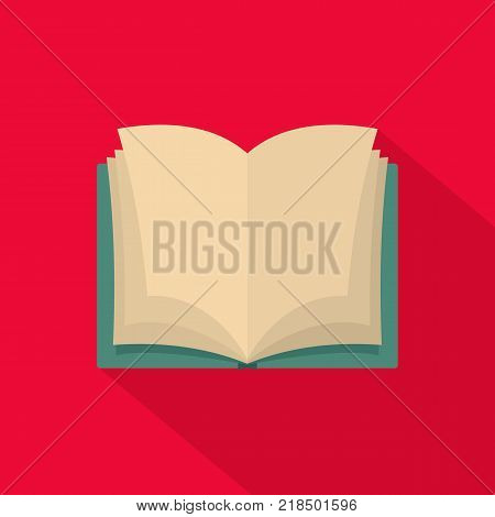 Book dictionary icon. Flat illustration of book dictionary vector icon for web