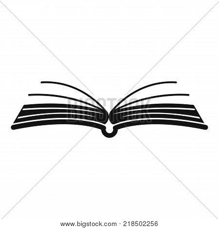 Book literature icon. Simple illustration of book literature vector icon for web