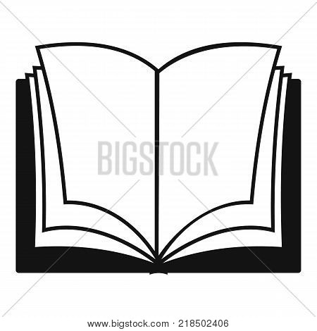 Book dictionary icon. Simple illustration of book dictionary vector icon for web