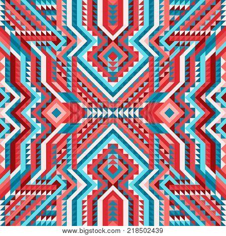 ethnic tribal seamless pattern aztec style. vector illustration - eps 8