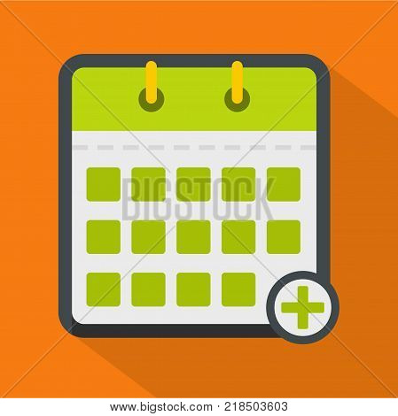 Calendar deadline icon. Flat illustration of calendar deadline vector icon for web