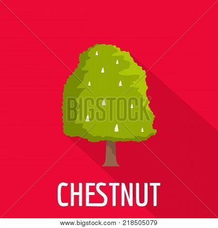 Chestnut tree icon. Flat illustration of chestnut tree vector icon for web