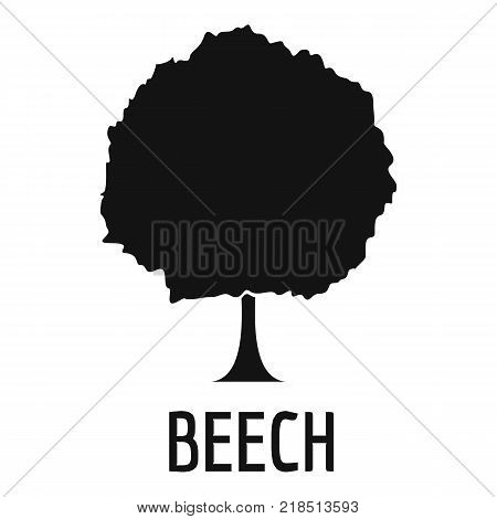 Beech tree icon. Simple illustration of beech tree vector icon for web