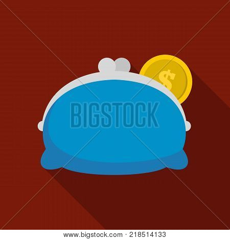 Purse woman icon. Flat illustration of purse woman vector icon for web